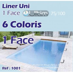Liner pour piscine UNI ULTIM 1 Face 6 couleurs Made In Blue