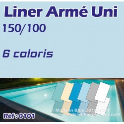 Liner armé uni 150/100 ALKORPLAN 2000 verni uni
