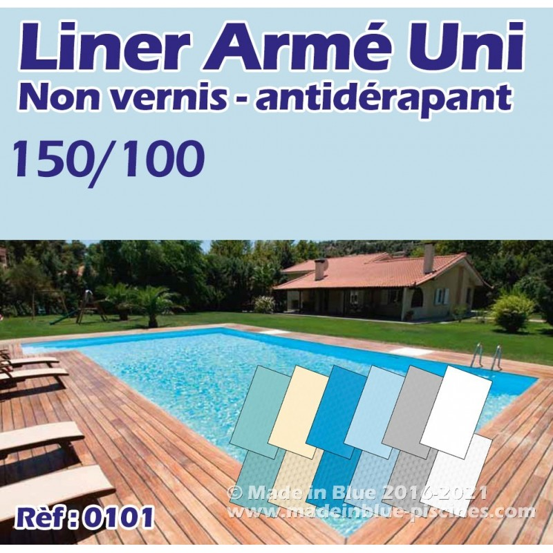 Liner arm uni 150 100 uni pour piscine top qualit for Liner arme pour piscine