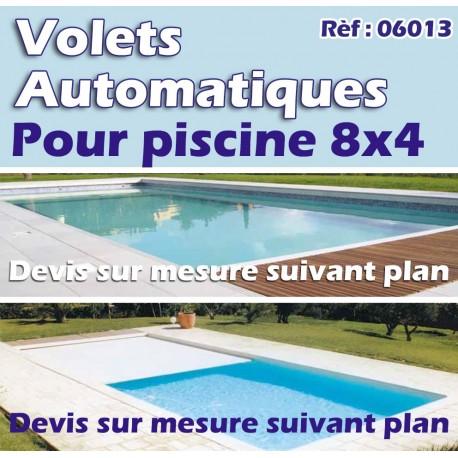 Volets automatiques pour piscine 8x4