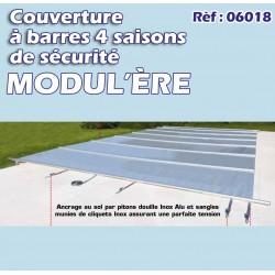Couverture à barre de sécurité pool modul'ere