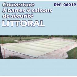 Couverture à barre de sécurité pool littoral