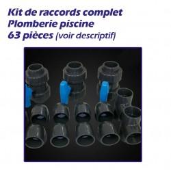 Kit de raccords plomberie pour piscine 63 pièces