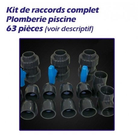 Kit De Raccords Plomberie Pour Piscine 63 Pieces Diam 50
