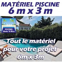 Promo Piscine 6mx3m - Que le matériel