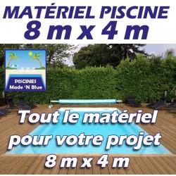 Promo Piscine 8mx4m - Que le matériel
