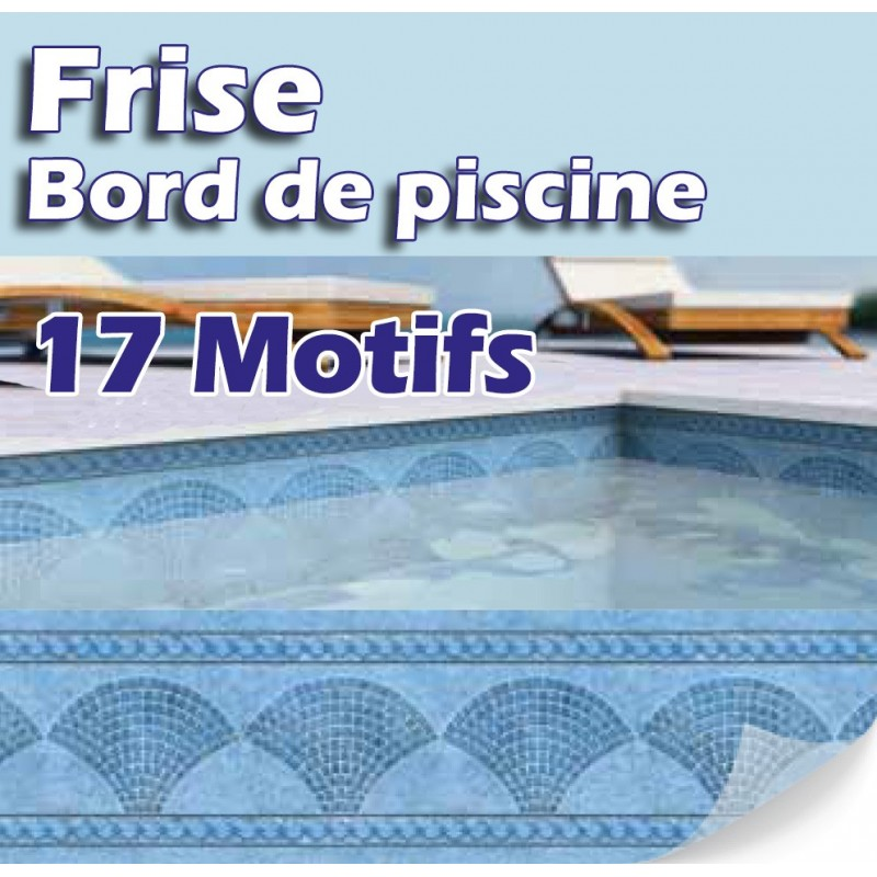 Frises bandeaux et personnalisation made in blue piscines for Frise piscine