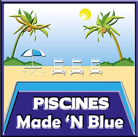 logo made in blue piscines