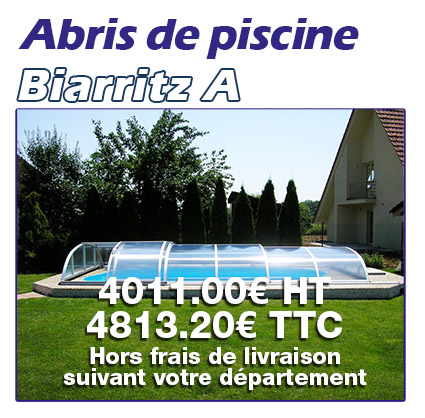 Abris de piscine Made In blue Biarritz A