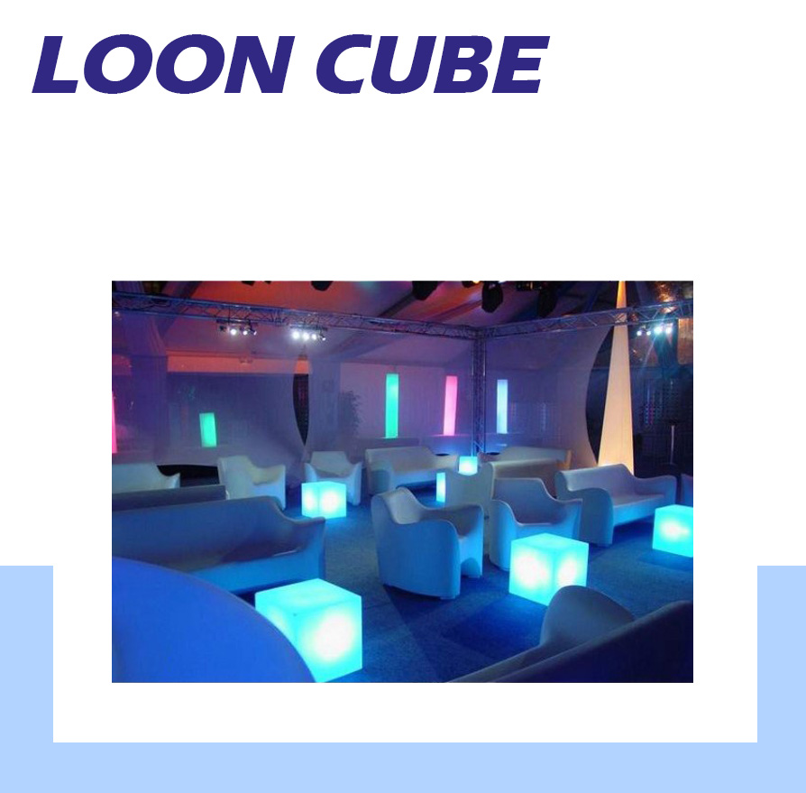 LOON CUBE DÉCORATION LUMINAIRE - CUBE LUMINEUX - DÉCORATION CUBE ÈLECTRIQUE