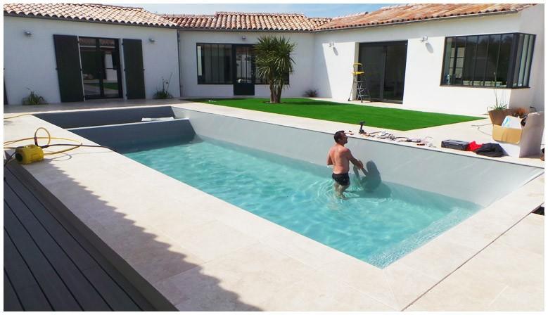 Réalisation piscine par Made in Blue