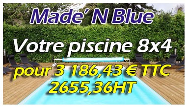 Promo Piscine 8x4 - 2655,35HT